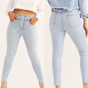 Free People We the Free CRVY Lace-Up Skinny 27